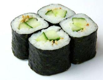 О суши. Роль огурцов в них
